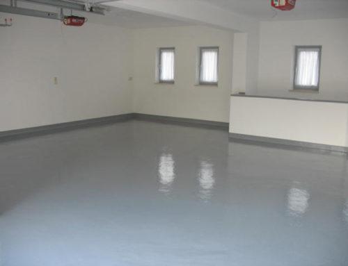 Beschichtung eines Garagenbodens