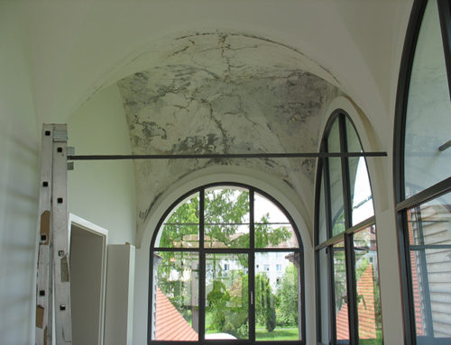Malerarbeiten im historischem Wieselhaus in Augsburg
