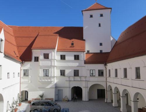 Malerarbeiten am Schloss Friedberg